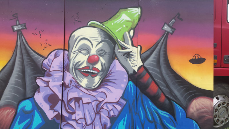 Revolting Mass / MAS - The Big Malarkey Circus Graffiti