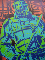 Riot Police / Civil Rights - Multi-Layer Stencil - Revolting Mass